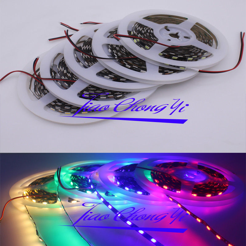 PCB 5mm width 5630 Felxible LED strip 5M 300led 60LED/M Ribbon Tape light IP20 Black PCB