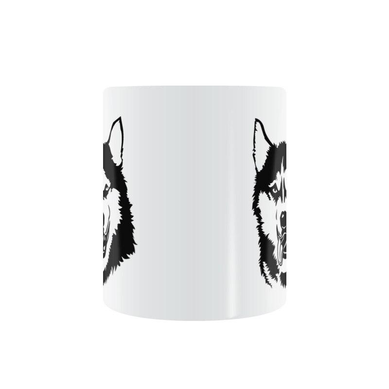 Sled Snow Dog Mug Coffee Milk Ceramic Cup Creative DIY Gifts Home Decor Mugs 11oz T707