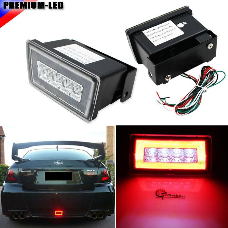 iJDM Clear Lens 3-In-1 LED Rear Fog Light, Brake and Backup Reverse For 2011-up Subaru Impreza WRX STI or VX Crosstrek