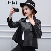 2017 women genuine lambskin full pelt coat real leather coat