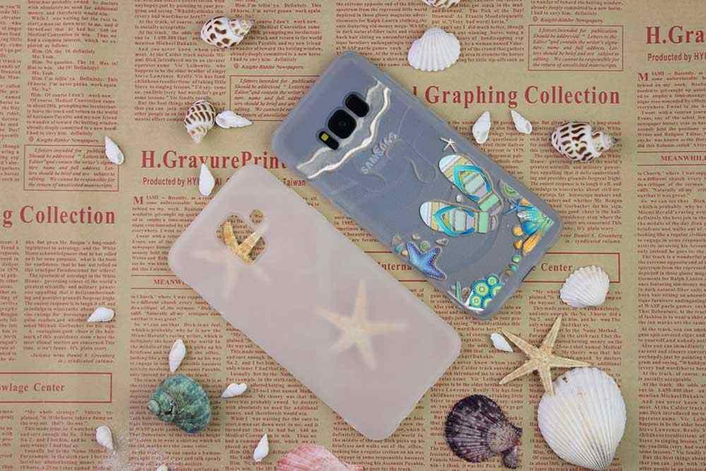 Чехол для samsung S4 S5 мини S6 S7 Edge Plus S8 S9 плюс S10 чехол мягкий силиконовый 3D ТПУ M20 летние пляжные пейзаж картины