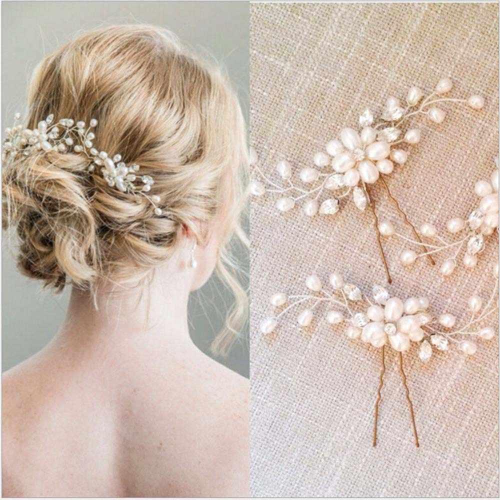 ainameisi 2pcs/set crystal combs bridal wedding hair accessories hairpin rhinestone hair ornament barrettes fashion jewelry