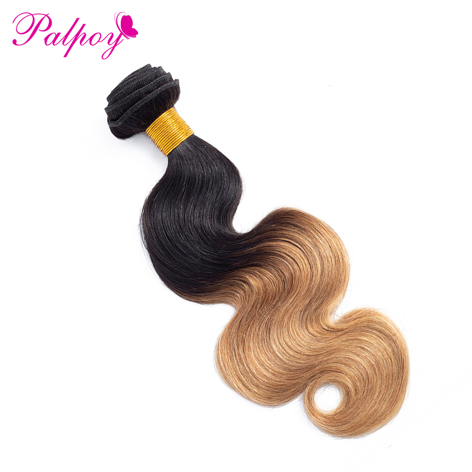 Hair Weaves Cheap Price Palpoy Malaysia Hair Bundle Ombre Body Wave Human Hair One Bundle Only 1b/27 Two Tone Non-remy Hair Weave Free Shipping Modern Design Human Hair Weaves