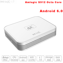 10 Teile/los Amlogic S912 Octa Core ARM Cortex-Ein Android 6.0 Smart TV BOX mit wifi Voll KODI HD 4 Karat Media Player Set Top Box 2G/8G(China (Mainland))