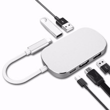 USB 3.0 Type-C Thunderbolt 3 TO HDMI Adapter 4K Type C USB 3.0 HUB USB-C 5 In 1 Out Adapter Converter For Macbook Pro Chromebook