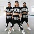 2016 летние широкий шаровары женщины падения промежности хип-хоп танца штаны панк Harajuku рок стиль спортивной бегунов