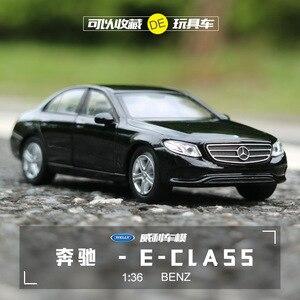 Image 1 - Gratis Verzending 1:36 Benz E Klasse Legering Auto Speelgoed Model Met Pull Back Functie Originele Doos Simulatie Model Auto speelgoed Voor Kinderen Gift