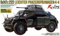 Realtsタミヤモデル1/35スケール組立軍事モデル#35270ドイツ装甲車sd。Kfz.222特別版プラスチックモデルキット