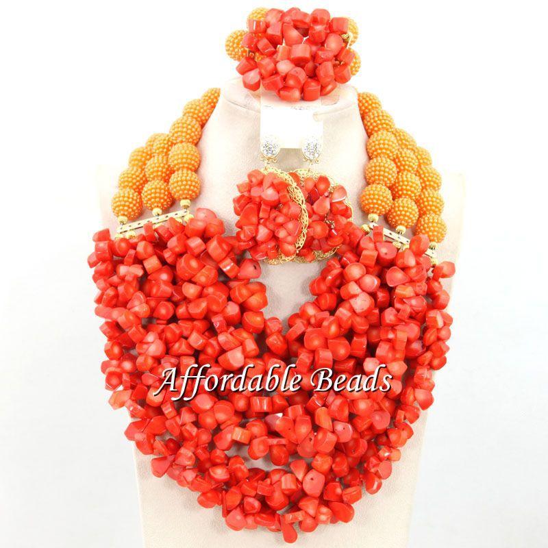 Dubai Gold Jewelry Set Nice African Jewelry Set Handmade Design Wholesale Free Shipping BN568