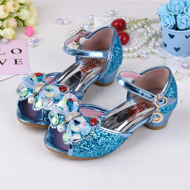 c11a5d5bd975 Children S High Heels Girls Sandals Kids Princess Shoes With Bow Little  Girl Summer Sandals In Party Student Performance Shoes