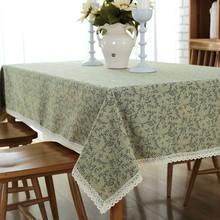 Современная простая скатерть с зелеными шипами цветами полиэфирно