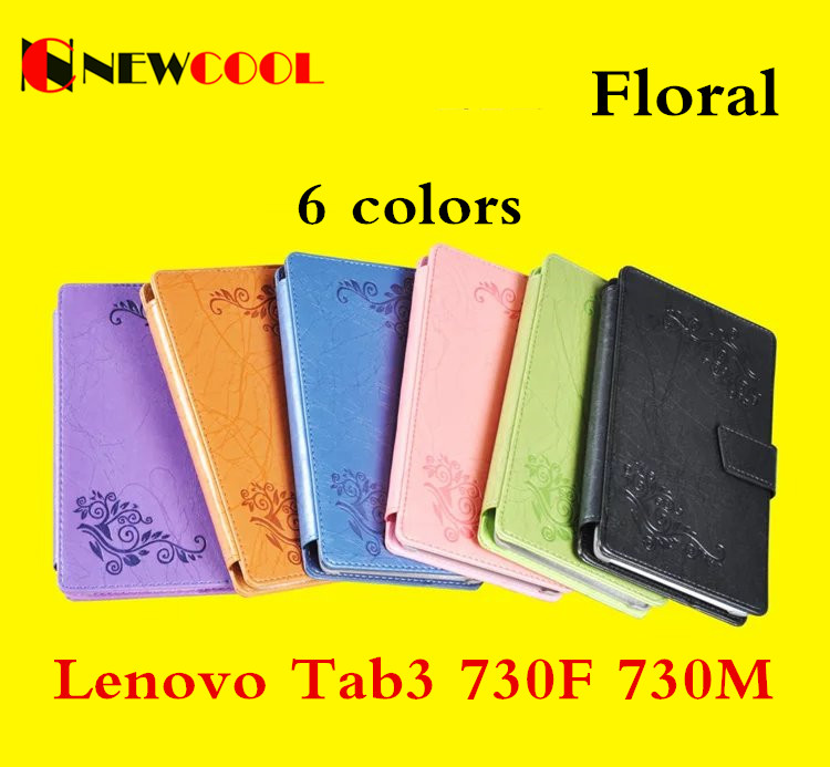 Elegant Floral PU Leather Case Flip Cover For Lenovo Tab 3 tab3 730F 730M 730X 7 inch tablet TB3-730X TB3-730F TB3-730M Cover print flower pu leather case cover for lenovo tab 3 730f 730m 730x tb3 730x tb3 730f tb3 730m tablet 7 screen protector film