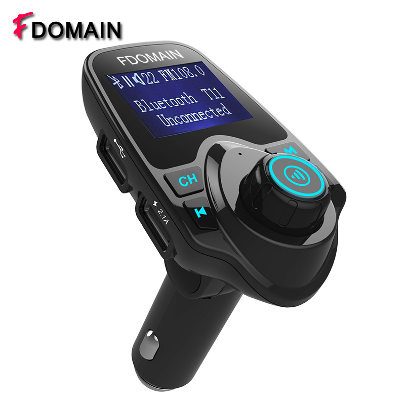 Wireless In Car Bluetooth hands free kit Stereo FM transmitter Radio Adapter with Dual USB auto