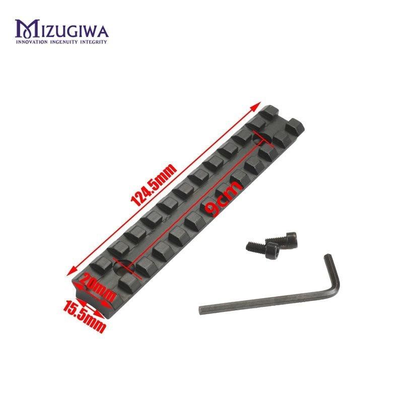 MIZUGIWA Screws Curve Rifle Scope Picatinny Round Bottom 20mm Weaver Rail Mount Base Install Scope Pistol Hunting Caza