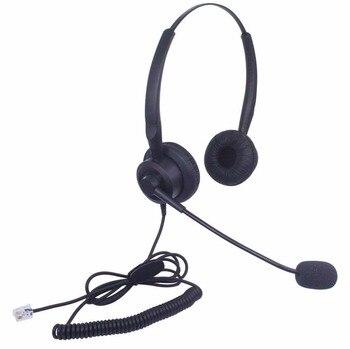Auriculares Wantek con micrófono para DSX ShoreTel IP230 Polycom 335 IP100 IP212K y VVX310 400 teléfonos IP