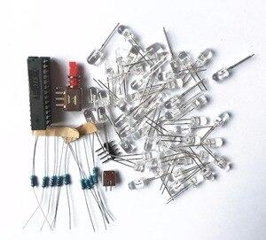 Image 5 - Colorido Estrella de Cinco Puntas LLEVÓ agua Luz 51 MCU luces LED electrónicos de producción DIY kit para enviar el programa
