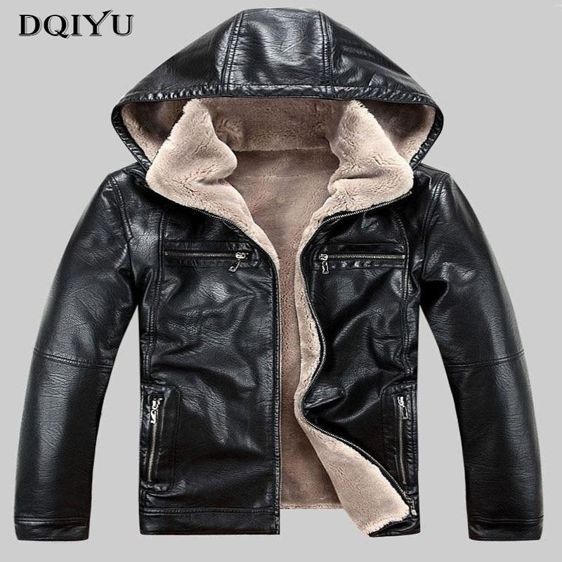 19608759c54f9 Satın Al 2019 Yeni Moda Deri Ceket Erkekler Kış Kalınlaşmak DERİ CEKETLER  Mont Rüzgar Geçirmez Ceket Erkek Jaqueta Couro Masculina 5XL Fiyatları