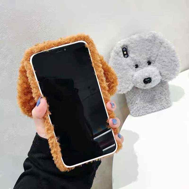 ใหม่ฤดูหนาวตุ๊กตาสุนัขปุยสำหรับ iPhone 11 Pro XS MAX XR SE SE2 กระต่ายขนสัตว์อุ่นสำหรับ iPhone 8 8 PLUS 6/6s 7 Plus X
