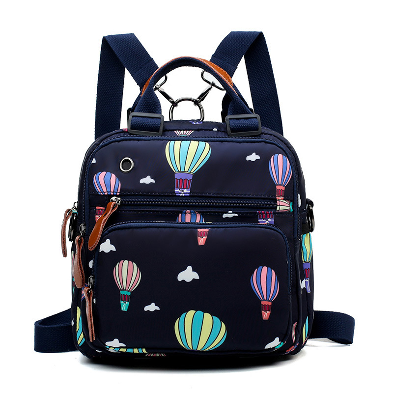 Baby Diaper Bag Mummy Maternity Travel Balloon Printing Backpack Large Capacity Newborn Nursing Milk Bottle Keep Warm Bag CL5513