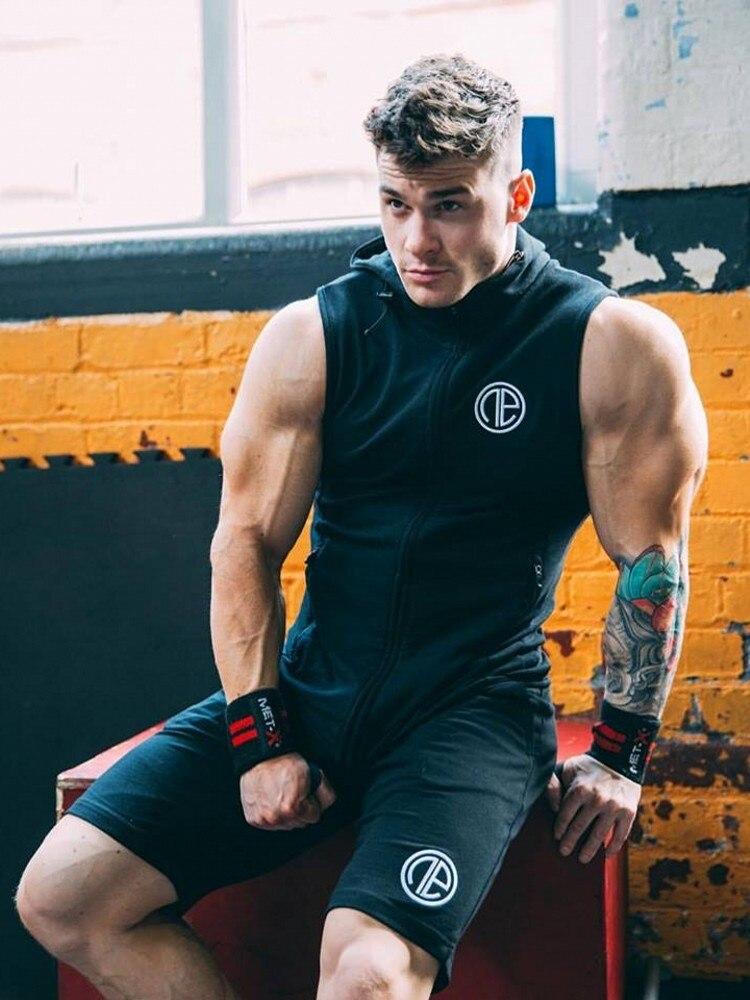 2018 Gyms Sporting Suit Mens Hoodie Zipper Pants Suits Tracksuit Two Piece Set Men Clothing Sets Shorts Pants+hoodie`Suit