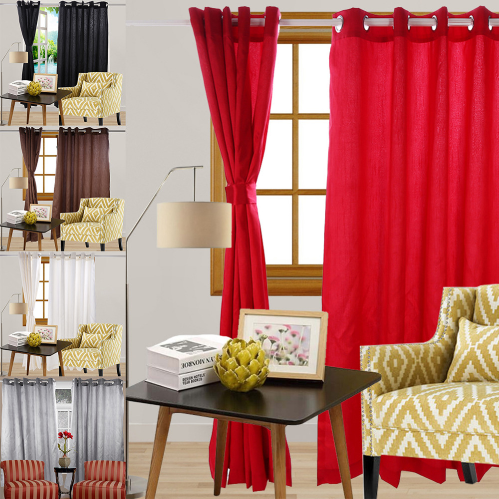 Aliexpress Buy 90X 90 Faux Silk Fabric Fully Lined Kitchen Curtains Pleat Eyelet Ring Top Drapes With Lining For Living Room From Reliable