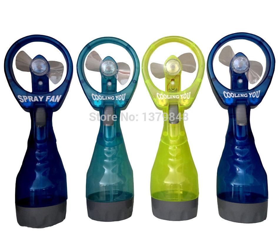 Cooling water spray fan handheld bottle misting in