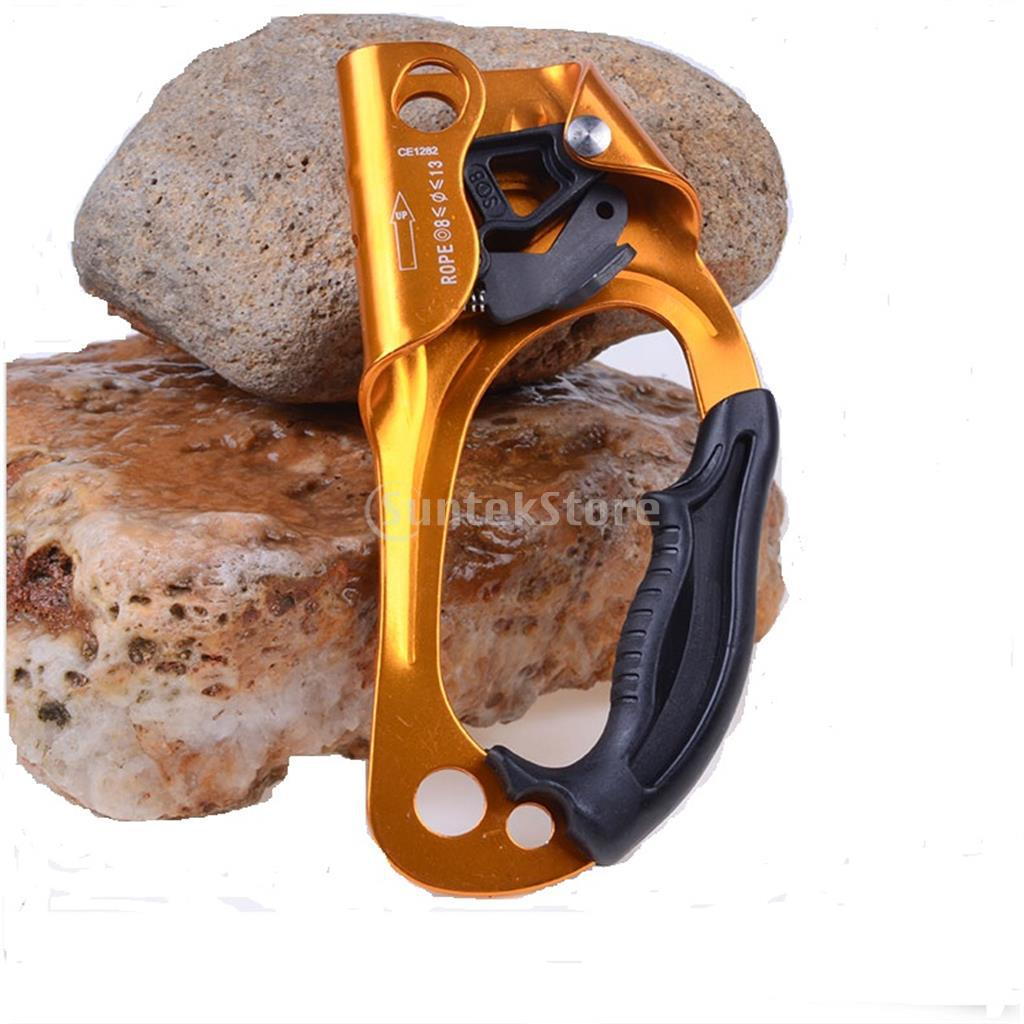 Heavy Duty Large Ascension Right Handed Rope Clamp Ascender Outdoor Rock Climbing Mountaineering for 8mm-13mm Rope Tree Surgeon e0037 right hand ascender professional aerospace aluminum ascenders for outdoor mountaineering rock climbing