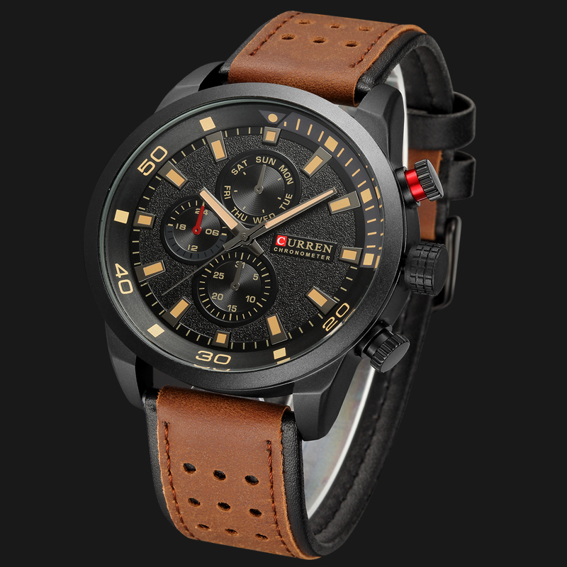 CURREN 2018 New Luxury Fashion Analog Military Sports Watches High Quality Leather Strap Quartz Wristwatch Montre Homme Relojes