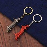 Porte-clés Souvenir Vicney SAN FRANCISCO en alliage de Zinc porte dorée pont porte-clés Style Vintage Antique porte-clés en Bronze cadeaux