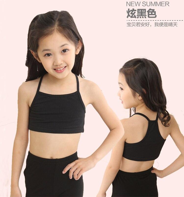 Young Girls Kids Underwear Dance Gym Sports Cotton Bra Tanks Training Crop Top