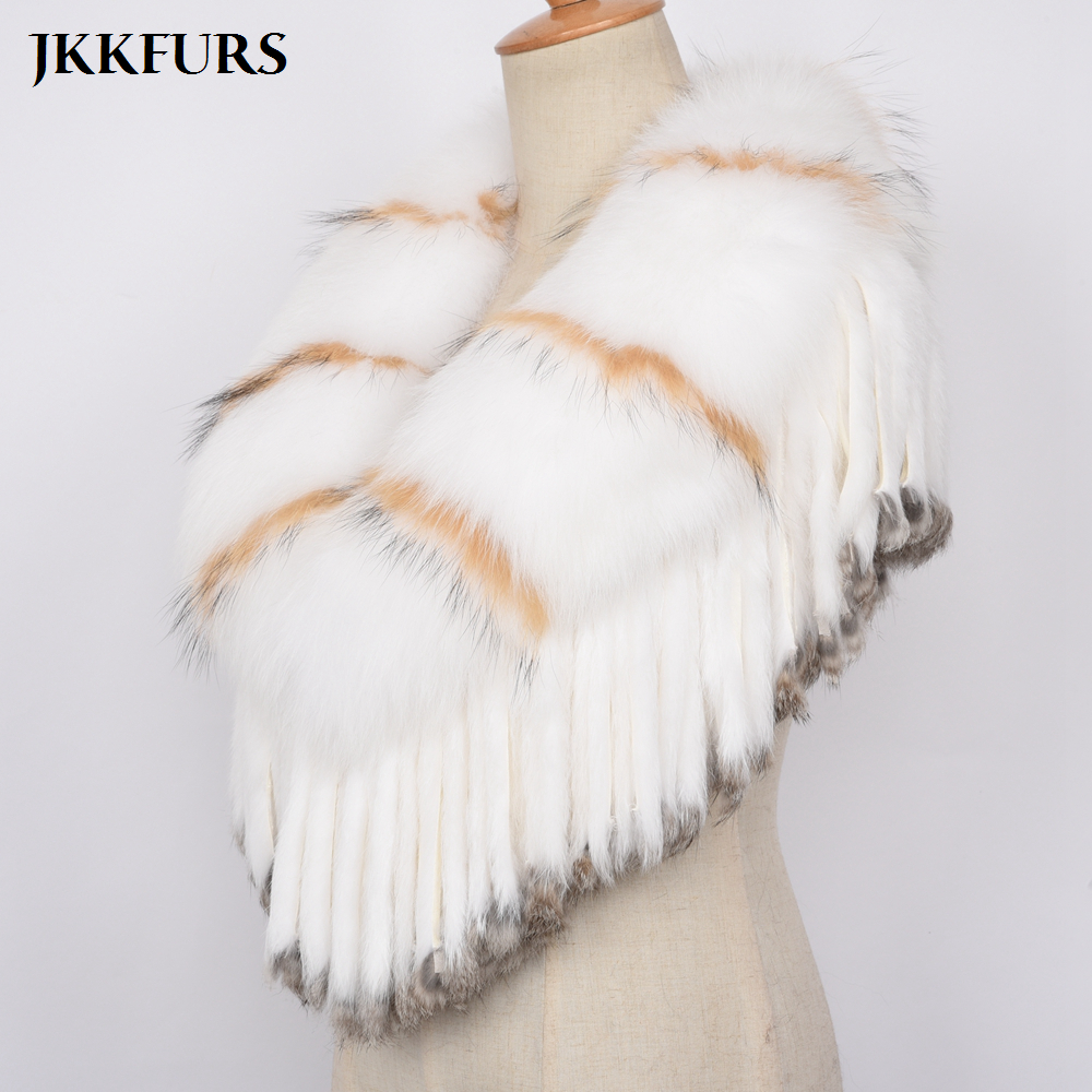 Women 39 s Luxurious Real Fox Fur Boleros Bridal Fur Scarves Fashion Shawl Marriage Poncho Coat Bride Winter Wedding Party S7454 in Women 39 s Scarves from Apparel Accessories