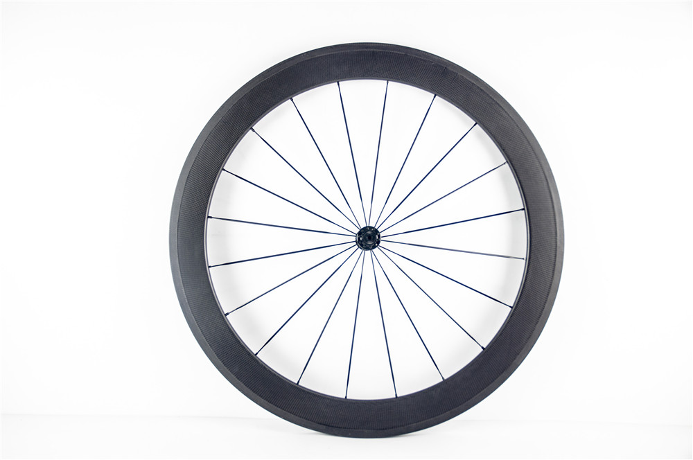 1pcs light 700C 60mm tubular rim Track Fixed Gear Road bike 3K UD 12K full carbon bicycle wheelset aero spokes skewers Free ship