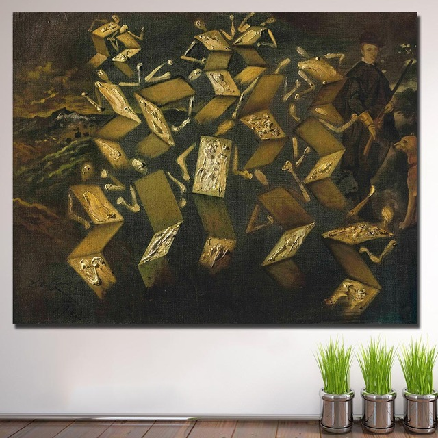 Salvador-dali twist in the velazquez studio painting For Living Room Home Deco Oil Painting On Canvas Wall Painting No Framed 1