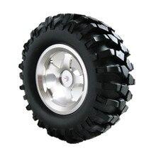 """4 Unids/lote 108mm 1.9 """"rock crawler tires & rueda llantas de aleación hex 12mm para 1/10 coche de rc hobby hpi tamiya axial scx10 d90"""