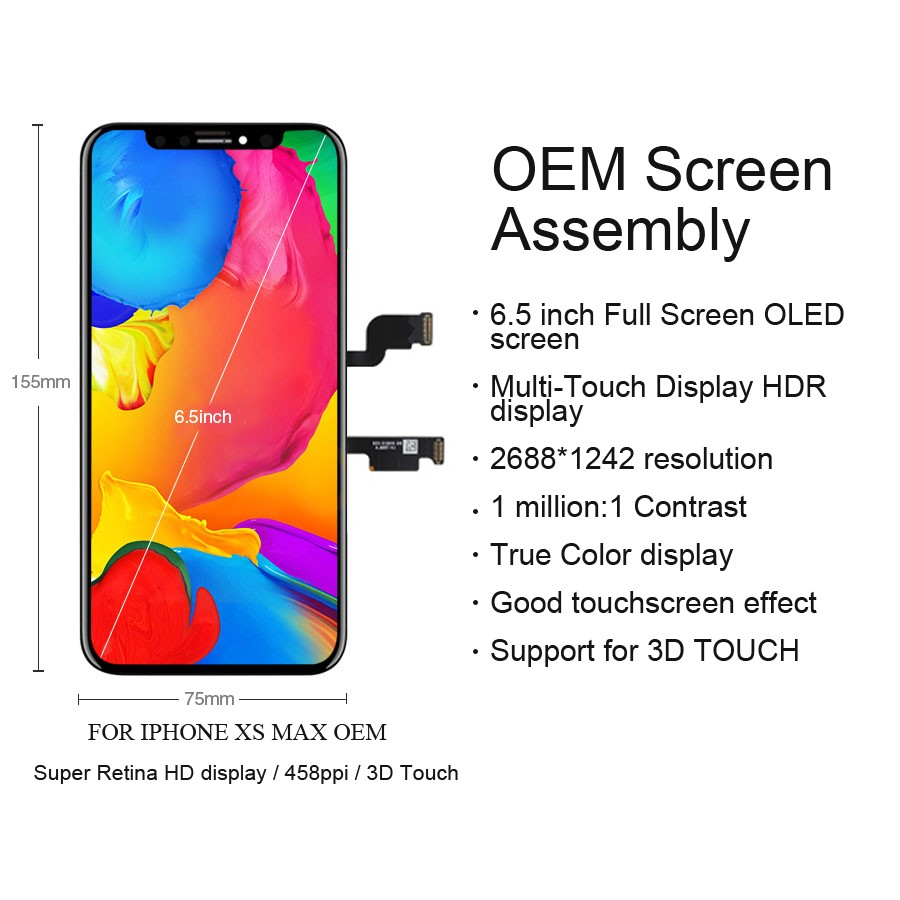 Image 4 - Original LCD For iPhone X Xs Max XR LCD Display For Tianma OEM Touch Screen LCDS With Digitizer Replacement Assembly Parts-in Mobile Phone LCD Screens from Cellphones & Telecommunications