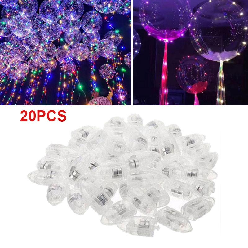 20pcs LED Light Up Balloon Lights Christmas Birthday Party Wedding Decoration LED Flash Luminous Lamps Tumbler Light Bar Lantern Christmas Wedding Party Decorations Birthday Decor