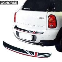 Union Jack Car Rear Bumper Rubber Edge Protection Trunk Guard Plate Trim Protector Stickers For MINI Cooper S Countryman R60