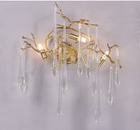 Phube Lighting Artistic Branches Wall Lamp Coloured Glaze Wall Light Lighting Hotel Sconce Copper Wall Lamp Light