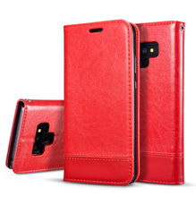 Leather Stand Case for Samsung Galaxy NOTE 9 8 5 S9 S8 Plus S7 S6 Edge Plus Soft Wallet Flip Cover Card with Lanyard Smart Bag(China)