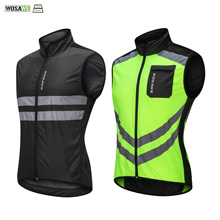 WOSAWE High visibility Jacket Road Cycling Night Riding Reflective Vests Motorcycle Running Safety Clothing