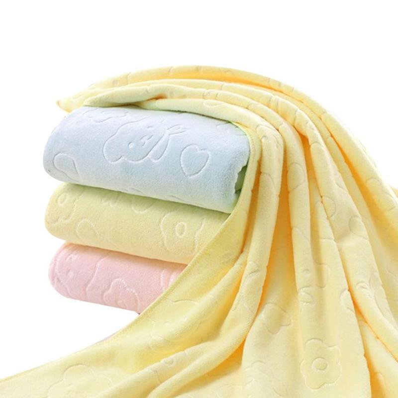 Baby bath cotton 140*70 cm newborn textile cotton towel cartoon baby bath towel Cotton thickened baby washcloth 3colors XV2