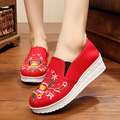 2017 chinese Pregnant cloth shoes embroidered shoes elegant shoes slope with the national wind women flats women shoes platform