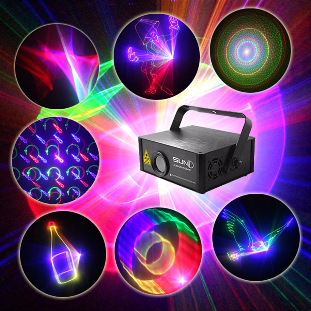 400mW RGB 3D Laser SD Program ILDA 24CH DMX Aurora Kaleidoscope Animation Effect DJ KTV Show Disco Stage Lighting C5S-RGB400