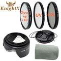 KnightX ND УФ FLD CPL Фильтр объектива Набор Чистки Для Nikon Sony Canon T5i T4i T3i T3 T2i DSLR 49 ММ 52 мм 58 мм 67 мм 55 мм объектив