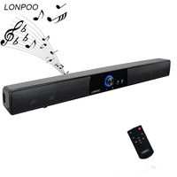LONPOO Portable Bluetooth Speaker Loudspeaker Stereo Music Square Mini USB Speaker with Remote Control for phone ipad computer