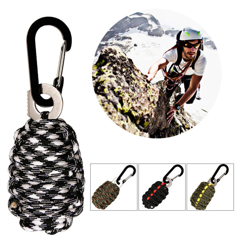 NEW EDC GEAR Carabiner Paracord Outdoor camping tools Survival Kit Fishing Kit and Sharp Eye Knife Outdoor
