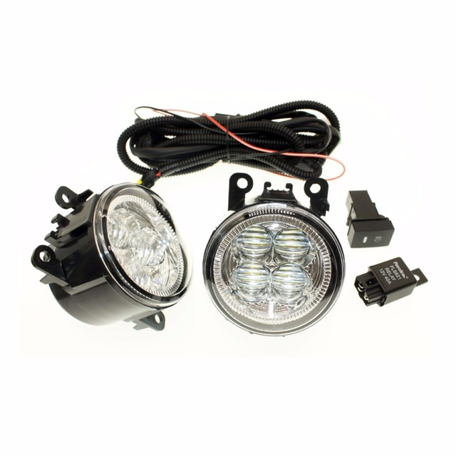 H11 Wiring Harness Sockets Wire Connector Switch + 2 Fog Lights DRL ...