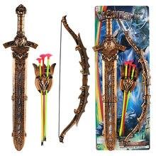 Grande 2 tipo de brinquedo antigo modelo criativo simulação arco e flecha brinquedos para crianças para meninos presente aniversário para crianças um picês