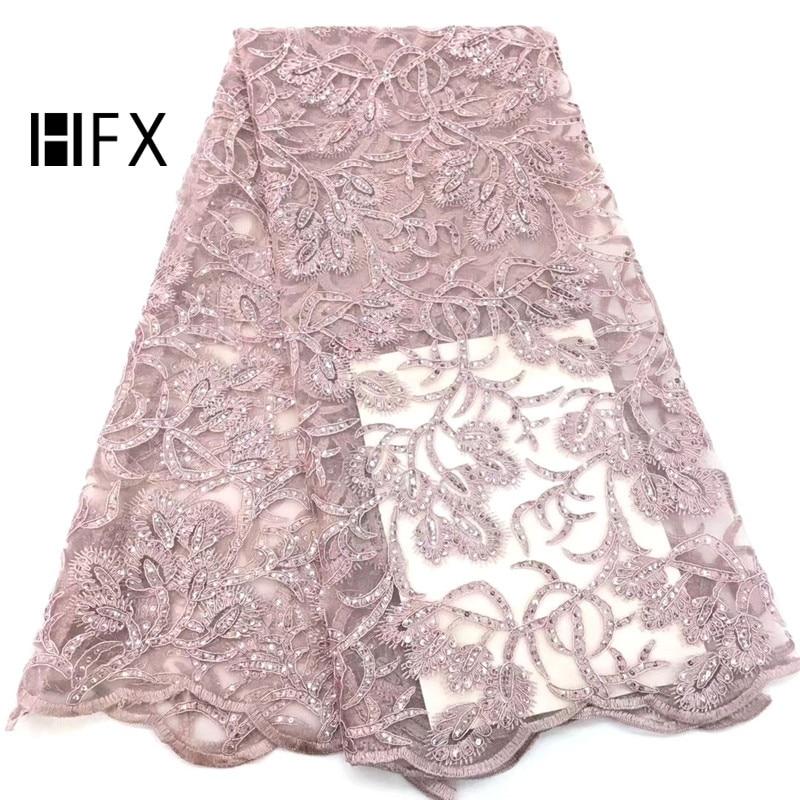 Telas de red bordadas rosadas HFX para ropa, hojilou tela de malla de lentejuelas 2019 última tela de lentejuelas de encaje de tul de alta calidad F1619-in encaje from Hogar y Mascotas    1