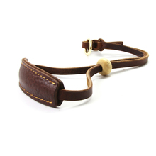 Adjustable Dog Collar Genuine Leather Durable Soft Pet for Small Medium Large Dogs Accessories Brown